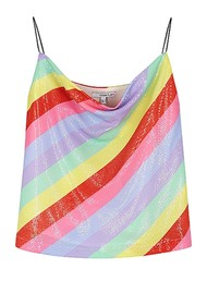 OLIVIA RUBIN Clover Sequin Cami Top - Fall Stripe