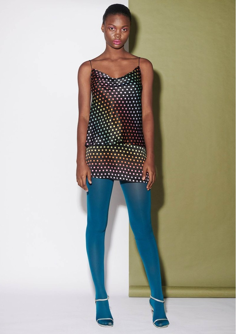 OLIVIA RUBIN Clover Silk Cami Top - Rainbow Dot main image