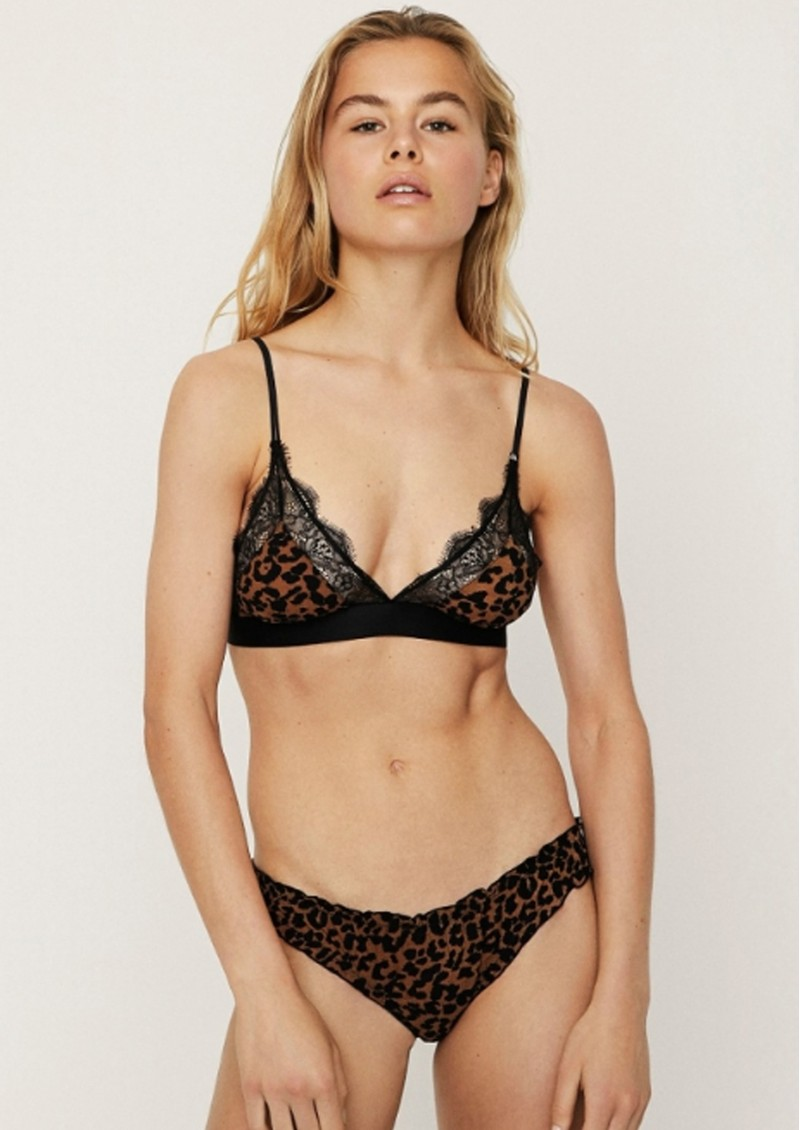 LOVE STORIES Love Lace Bralette - Leopard main image