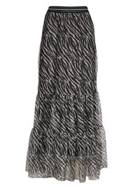 BECKSONDERGARD Zebra Nynne layered Skirt - Black