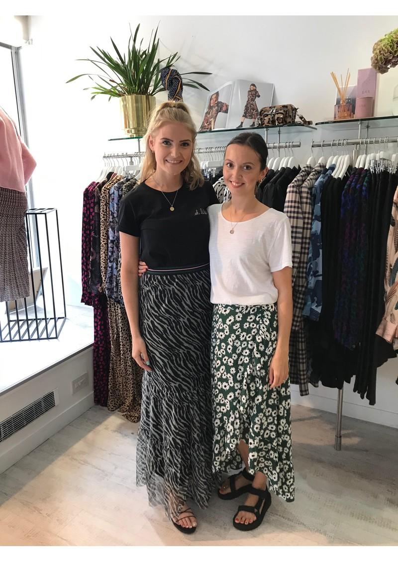 BECKSONDERGARD Zebra Nynne layered Skirt - Black main image