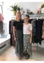 BECKSONDERGARD Zebra Nynne layered Skirt - Black