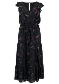Paige Denim Basil Butterfly Dress - Black