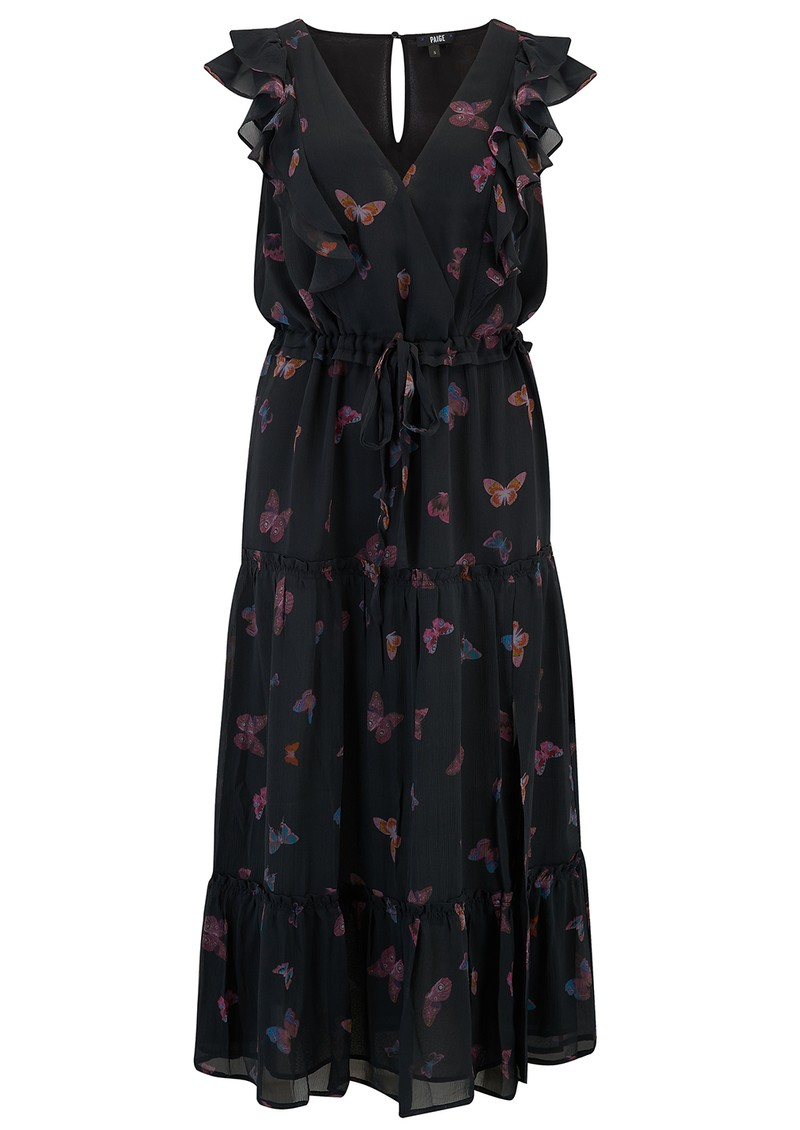 Paige Denim Basil Butterfly Dress - Black  main image