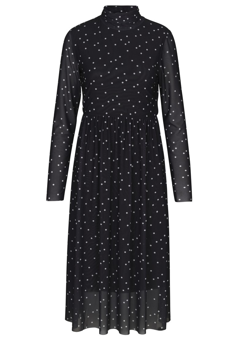 Gilline Polka Dot Midi Dress - Black main image