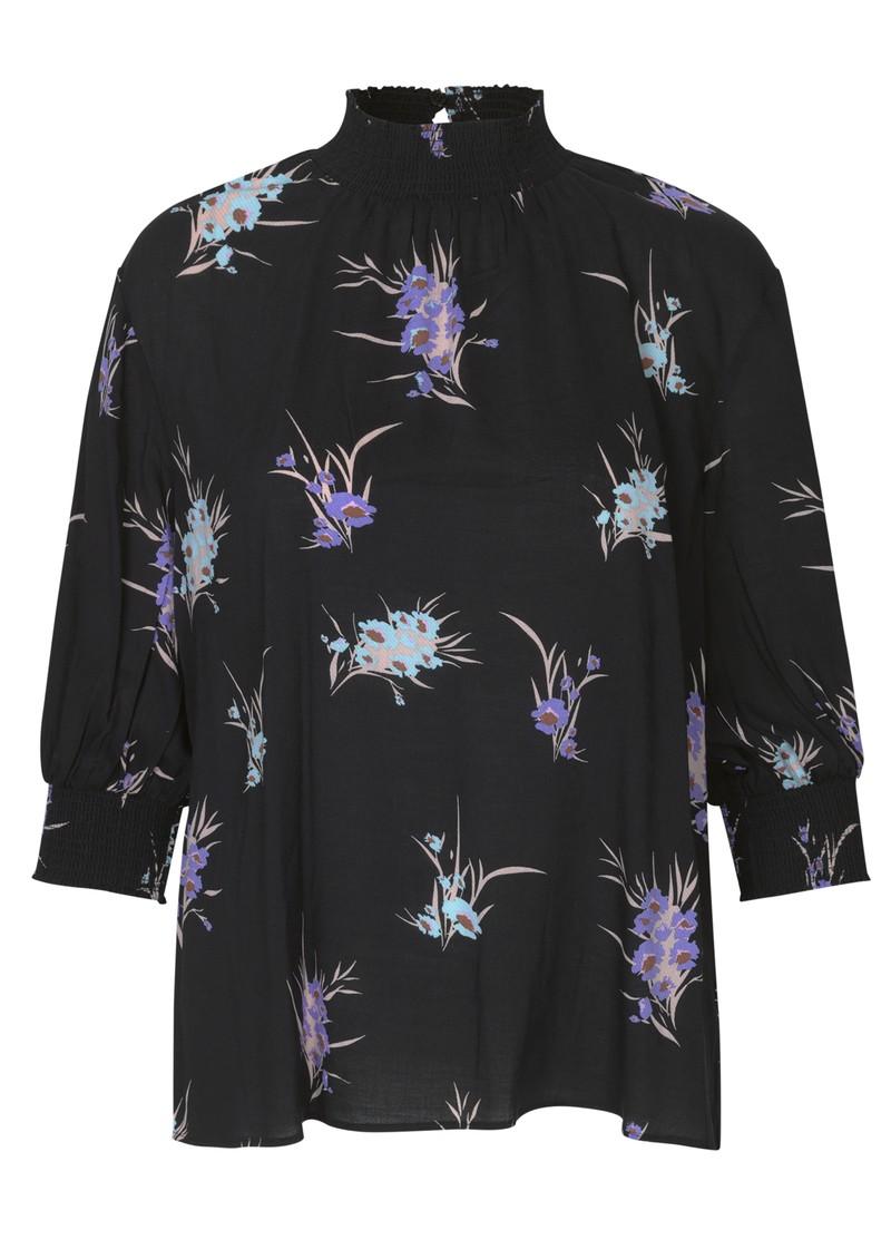 LEVETE ROOM Grita Floral Top 2 - Black main image
