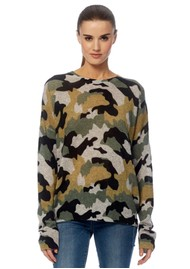 360 SWEATER Nanette Cashmere Sweater - Grey Camouflage