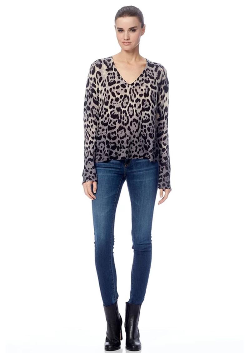 360 SWEATER Lauren Cashmere Sweater - Leopard main image