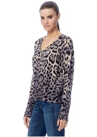 360 SWEATER Lauren Cashmere Sweater - Leopard
