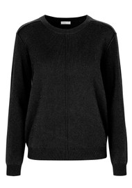 LEVETE ROOM Funda Crew Neck Jumper - Black