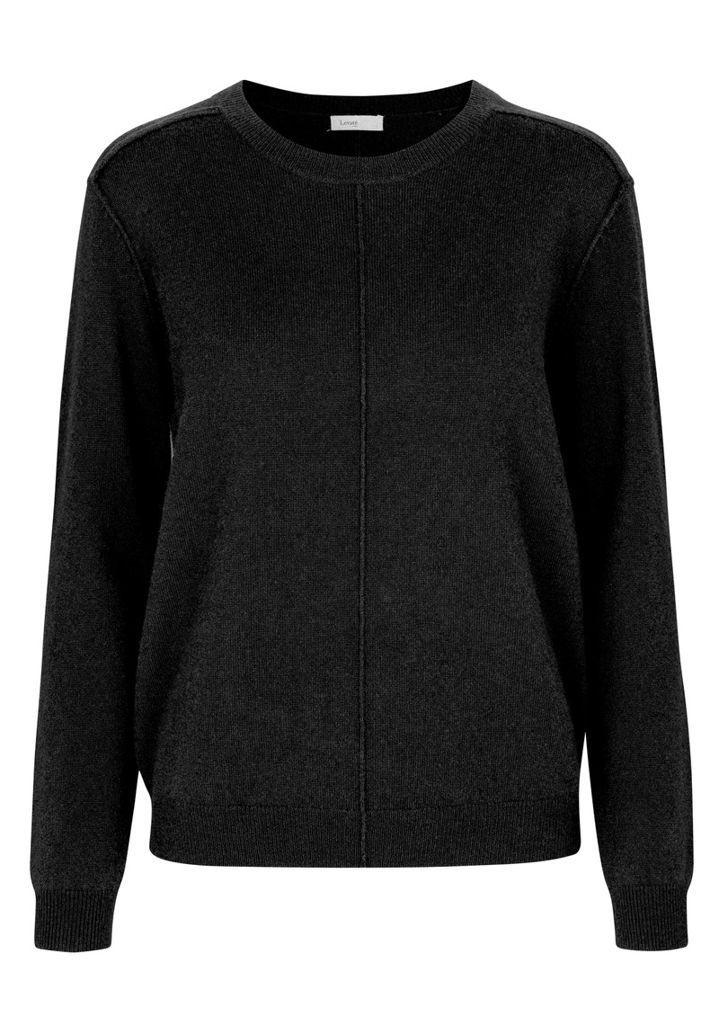 LEVETE ROOM Funda Crew Neck Jumper - Black main image