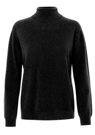 LEVETE ROOM Funda Polo Neck Jumper - Black