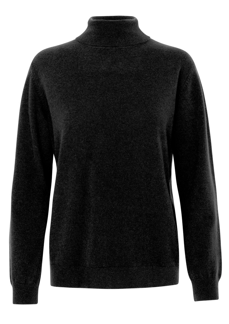 LEVETE ROOM Funda Polo Neck Jumper - Black main image