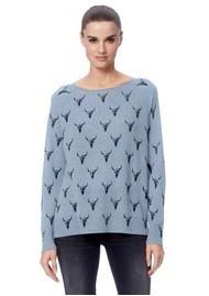 360 SWEATER Skull Cashmere Dawson Sweater - Swashed Charcoal