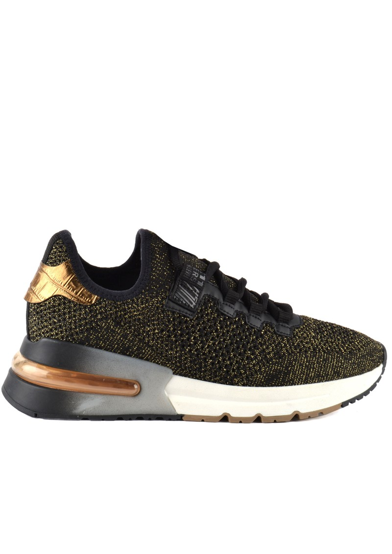 Ash Krush Bis Knitted Trainer - Black & Gold main image