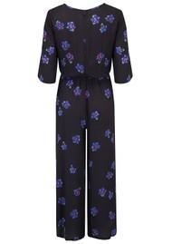 BAILEY & BUETOW Beatrice Jumpsuit - Black & Blue Floral