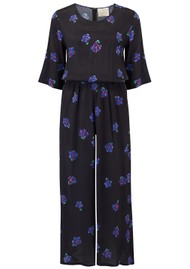 BAILEY & BUETOW Beatrice Jumpsuit - Black & Blue Floral