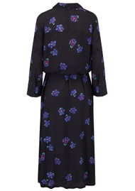 BAILEY & BUETOW Beatrice Dress - Black & Blue Floral