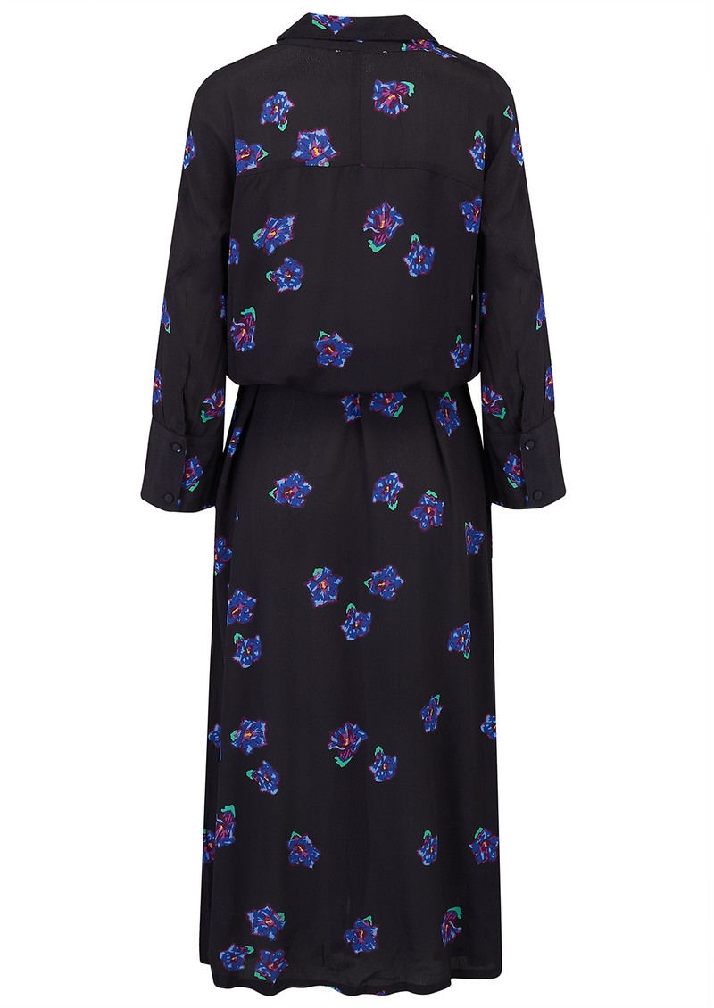 BAILEY & BUETOW Beatrice Dress - Black & Blue Floral main image