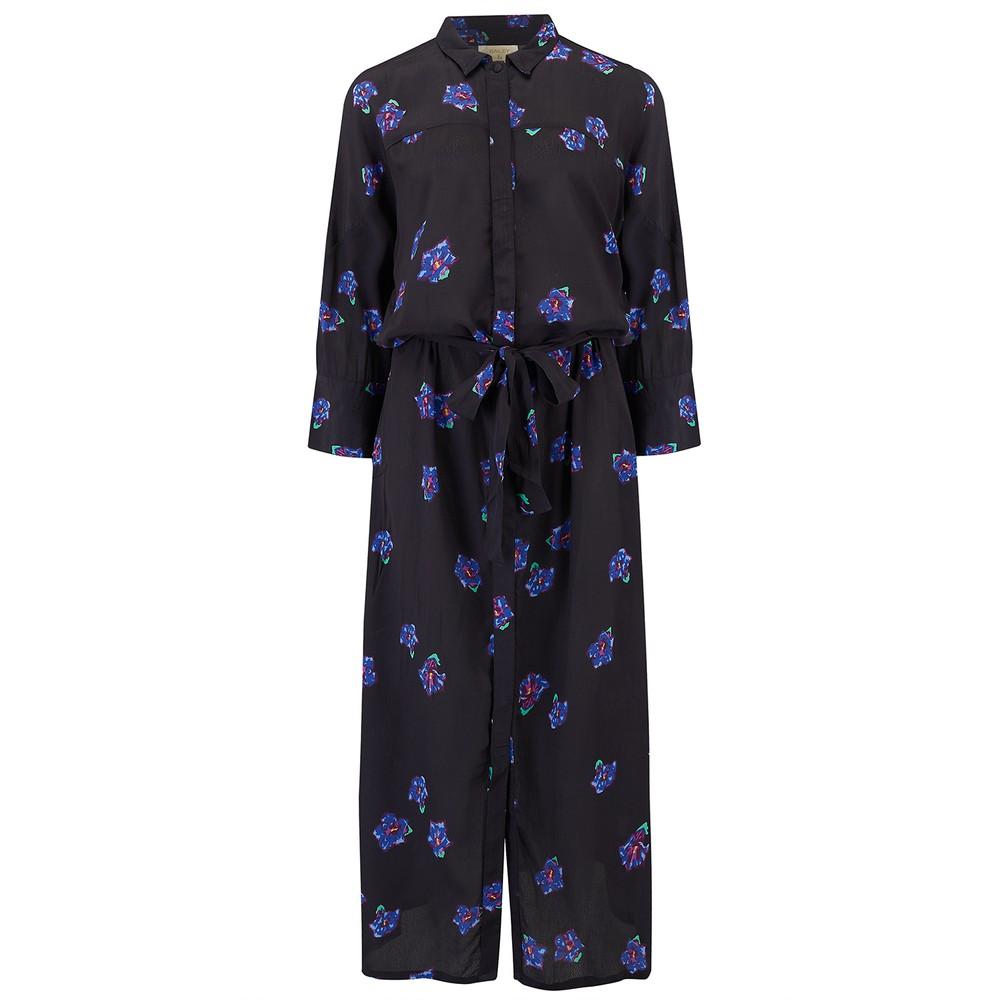 Beatrice Dress - Black & Blue Floral