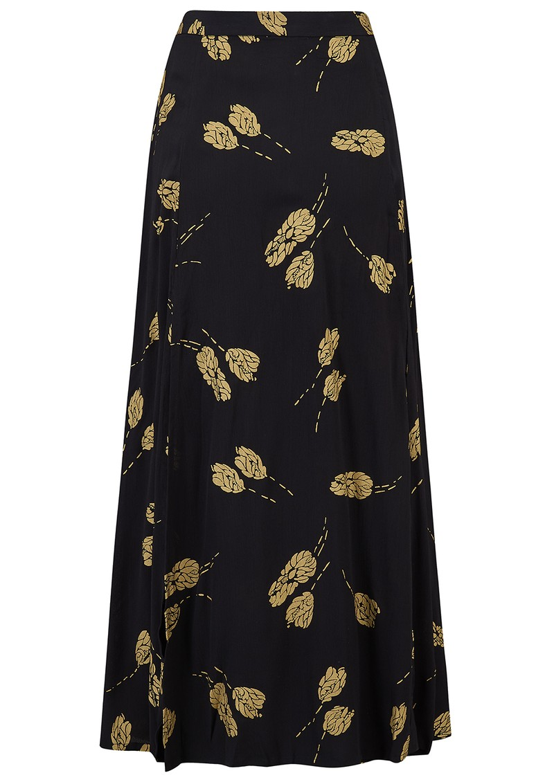 BAILEY & BUETOW Bailey Skirt - Black & Gold Tulip main image