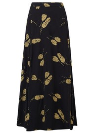 BAILEY & BUETOW Bailey Skirt - Black & Gold Tulip