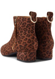 SHOE THE BEAR Linn Zip Suede Ankle Boot - Animal Print
