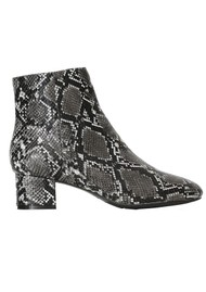 SHOE THE BEAR Vicky Snake Ankle Boot - White & Black