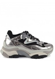 Ash Addict Silver Trainers - Black & Silver