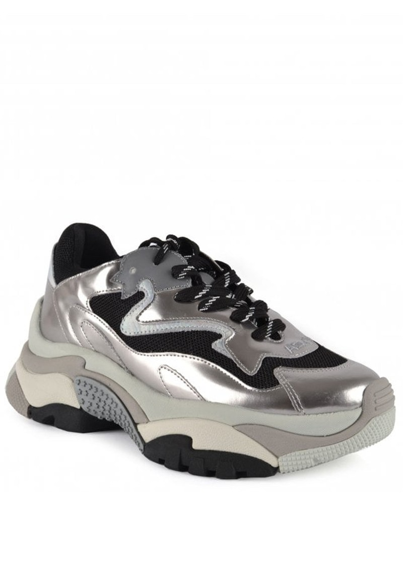 Ash Addict Silver Trainers - Black & Silver main image