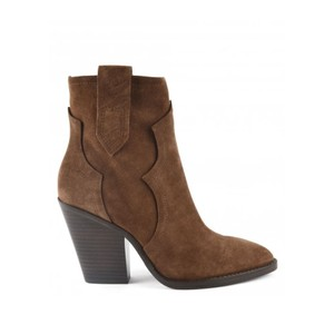 Esquire Heeled Suede Boots - Russet