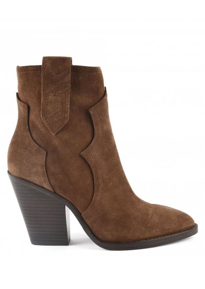 Ash Esquire Heeled Suede Boots - Russet main image