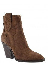 Ash Esquire Heeled Suede Boots - Russet