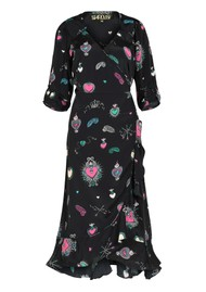 STARDUST Sweetheart Dress - Black Multi