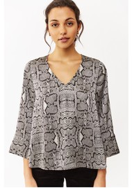 Twist and Tango Athena Blouse - Graphic Snake