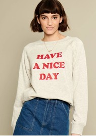 SOUTH PARADE Rocky Slogan Sweatshirt - Grey
