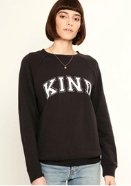 SOUTH PARADE Rocky Kind Slogan Sweatshirt - Black