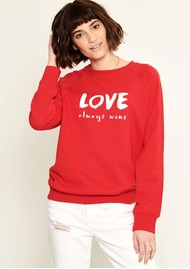 SOUTH PARADE Rocky Love Slogan Sweatshirt - Red