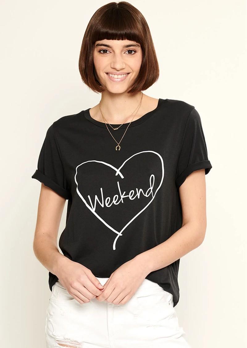 SOUTH PARADE Lola Weekend Heart T-Shirt - Black main image