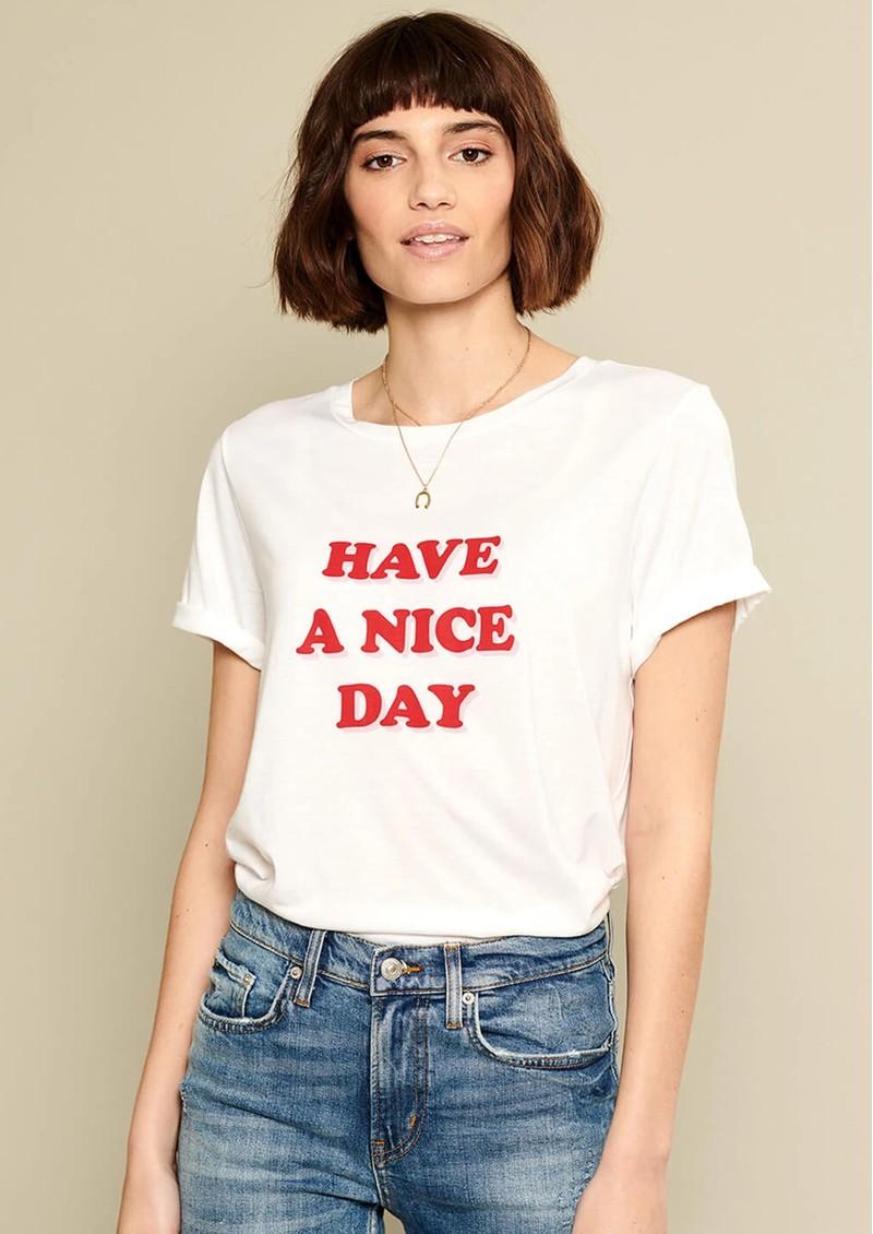 SOUTH PARADE Lola Have A Nice Day Slogan T-Shirt - White main image