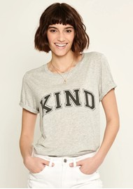 SOUTH PARADE Lola Kind Slogan T-Shirt - Grey