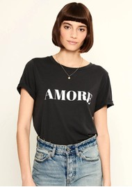 SOUTH PARADE Lola Amore Slogan T-Shirt - Black