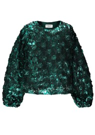 ESSENTIEL ANTWERP Thirteen Sequin Top - Bosforus Green