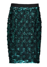 ESSENTIEL ANTWERP Temptation Sequin Skirt - Bosforus Green
