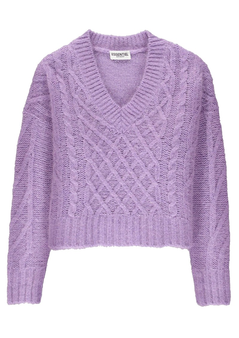 ESSENTIEL ANTWERP Tijoung Sweater - Paisley Purple main image