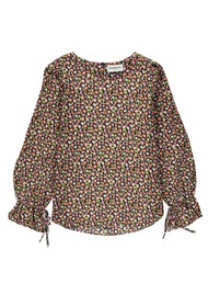 ESSENTIEL ANTWERP Terracotta Floral Print Blouse - Combo 1 Black