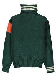 ESSENTIEL ANTWERP Twister Turtleneck Jumper - Bosforus Green