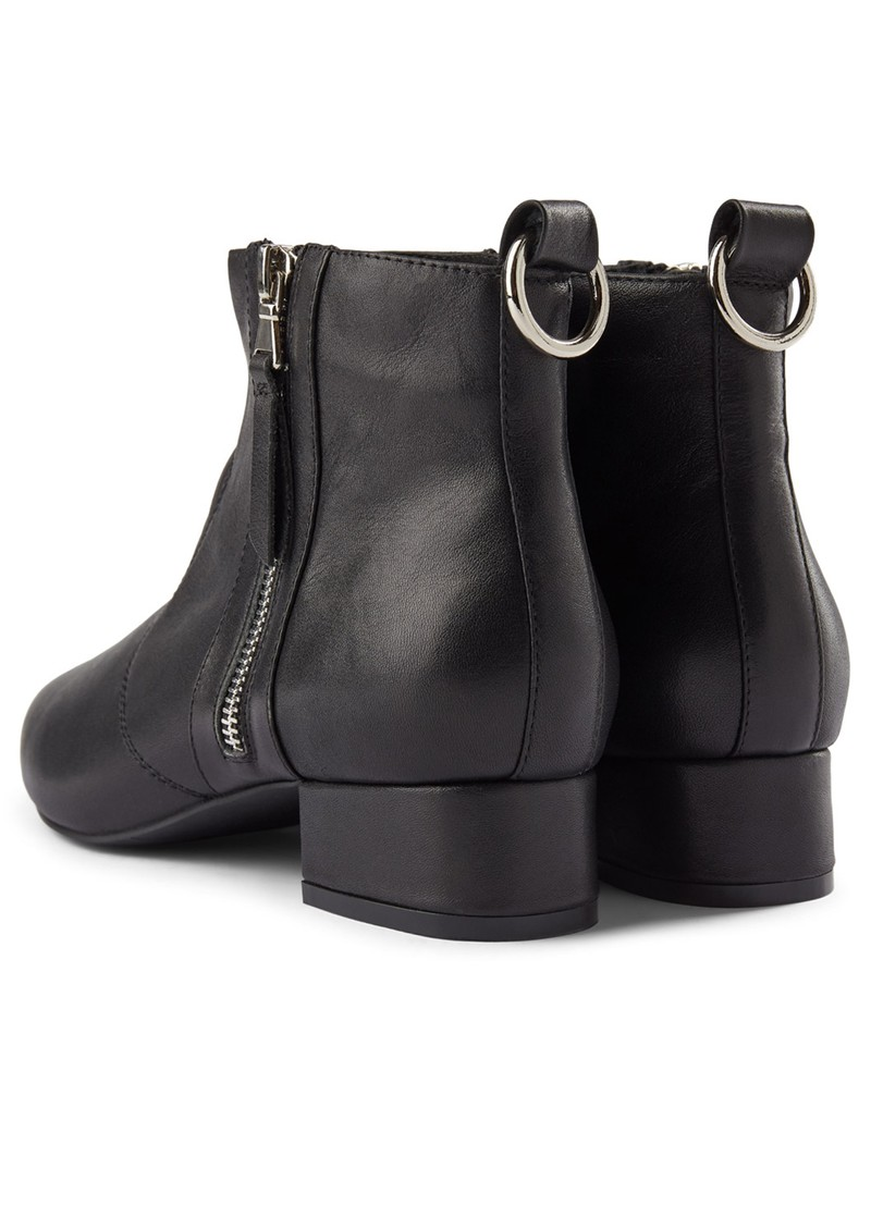 SHOE THE BEAR Linn Zip Leather Ankle Boot - Black main image