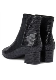SHOE THE BEAR Vicky Snake Ankle Boot - Black