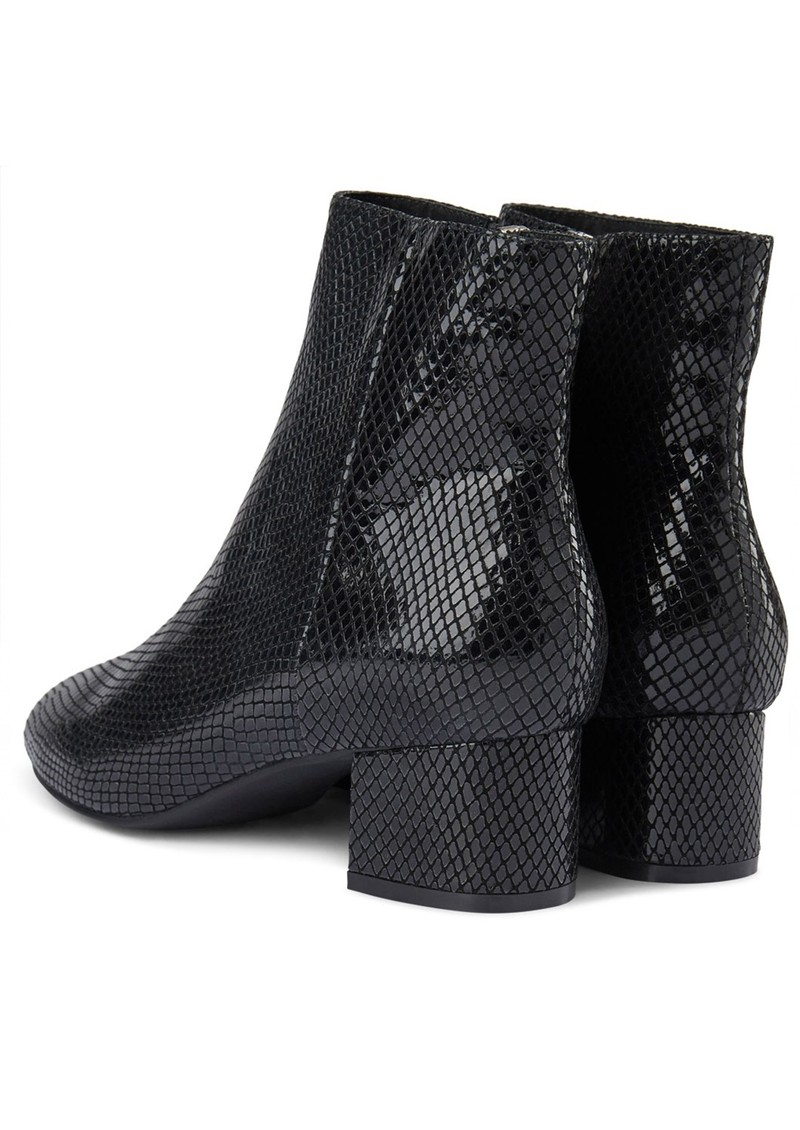 SHOE THE BEAR Vicky Snake Ankle Boot - Black main image